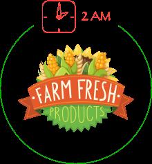 Step 2: We buy fresh fruit & vegetables
